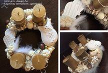 GRN Design/ Christmas / Karácsonyi díszek koszorúk, Karácsonyi hangulatú tárgyak  Christmas wreath and other handmade products