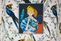 """The  """"birds"""" effect / Birds in home decoration, fabrics, furniture, art & everyday objects..."""