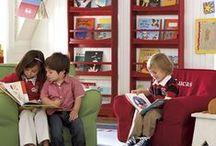 Reading Spaces / Wonderful Libraries, reading rooms, reading nooks.  Places to visit or spaces to create.