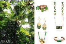 Vert emeraude / bijoux verts