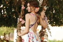 Maxi floral dress / Sexy style