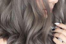 smokey grey hair