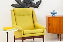 """(U)  Mid century modern furniture & style / It's a mixed board of mid century modern style interiors, furniture & objects exactly like my boards """"(A),(B),(C), (D) (E), (F),(G),(H),(I)... Mid century modern furniture & style"""". Trying to keep it color sorted..."""