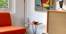"""(V) Mid century modern furniture & style / It's a mixed board of mid century modern style interiors, furniture & objects exactly like my boards """"(A),(B),(C), (D) (E), (F),(G),(H),(I)... Mid century modern furniture & style"""". Trying to keep it color sorted..."""