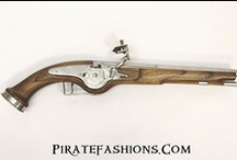 Black Powder Pirate Firearm History / Here are some of the Real Firing Black Powder Firearms: Pistols, Blunderbuss & Muskets that PirateFashions.com Makes, Proof Test & Warrantee for Life