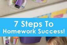 Parents // Zone École / Créer un endroit et des moments d'apprentissage constant dans notre chez soi.
