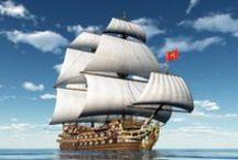 Mares e embarcações / Mares, oceanos e embarcações