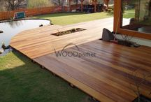 Dřevěná terasa u rodinného domu Garapa / #woodparket #dřevo #zahrada #terasy #architektura #garapa