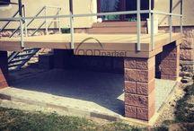 Vyvýšená terasa / #woodparket #terasy #fotogalerie #WPC #zahrada