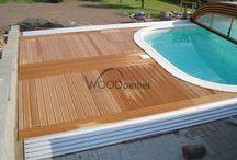 Terasa s bazénem / #WPC #terasy #woodparket #architektura #zahrada #bazen