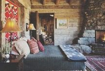 Cozy Retreat / Longing for fall!  Fluffy blankets, scarves, over-the-knee socks and sips of warm chai!