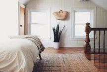 H O M E / Clean, airy and minimalist; warm wood, natural materials, white, cream and grey