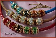 seed beads / anything that you can glue or sew seed beads on, (vases, shoes, clothes, jewelry, purses, pictures, some patterns and how to's / by kim olson