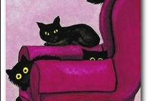 Cats of all sorts / I love cats.  I have three - plus we feed a colony of ferals (working toward TNR.)  Here I pin photos, painting, sculpture, ads, and my favorites of all the cat stuff that comes my way. / by Johanna Haas
