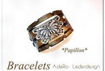 Bracelets  / AdeRo' s bracelets - leather artwork
