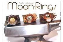 Rings - Leatherrings  / leather artwork - handmade by AdeRo