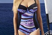 Plus Size Underwire Swimwear / Underwire Swimwear, not necessarily bra sized, that come in fuller figure swimwear sizes up to 24 or 3X, so far...
