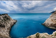 Blue / Due to its location on the sea side, the Provence Alps Mediterranean region has great sceneries of the deep blue sea.
