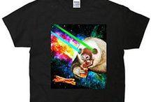 TeeShirtPalace Cool Shirts / #panda #cat #space #cooltshirts