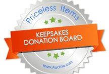 Keepsakes & Priceless for Auction: from Auctria / Keepsakes and one of a kind items, DIY, crafts are personalized.  Priceless and unique items for charity fundraisers increase participation, provide marketing tools and increase total collections and money raised.  Great for schools, pre-school, church, temple, religious groups.  Using Charity Auction Organizer, a web based program, makes the auction seamless from procurement through close-out.  www.charityauctionorganizer.com