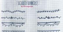Bullet Journal Header & Banner / Header & Banner fürs Bullet Journal