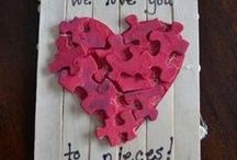Valentines Crafts | Ideas | Food / Ways to celebrate valentines with your children and family.  Arts and crafts, baking - anything to get the kids involved.