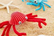 Summer Crafts / Summer craft ideas for parents and children.  Great ideas to get kids involved in family activities