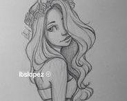 Drawings_Personen / Zeichnungen und Bilder zum Thema Personen