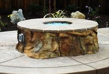 StoneMakers Firepits & Fireplaces / This board contains the possibilities you can achieve using the StoneMakers system