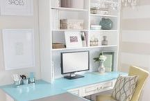 Writing Nooks I Love / Stylish decor ideas and organizing ideas for office, homework and writing areas in your home.