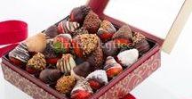 Bonboniéry z čerstvého ovocia v čokoláde / Fantasticky vyzerajú aj chutia: to sú bonboniéry od značky Chutné kytice.  https://www.chutnekytice.sk/c/ovocie-v-cokolade