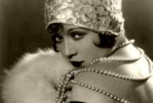 the jazz age / modern interpretations and photos from the era, flappers, cabaret dancers, parties at gatsby, art deco jewelry,  decadence and opulence:  all things 20s