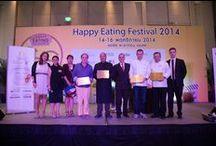"""Premiazione Bangkok 2014 / Il 14 Novembre a Bangkok, si è svolta la cerimonia di premiazione dell'edizione 2014 del progetto """"Ospitalità Italiana"""". L'evento si è tenuto durante l' """"Happy Eating Festival 2014""""."""