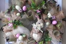 Easter decor ideas and cookies