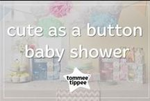 cute as a button baby shower / At tommee tippee®  we love to shower mums-to-be with beautiful new baby gifts! There's so many brilliant themes out there but our favorite is 'cute as a button'. If you love this theme you'll love the new range of baby gifts from tommee tippee® . Our pretty yet practical gifts are perfectly presented in their own special gift boxes. So there's no hassle and no need to wrap, all you need to do is write your special message to mum and baby! www.tommeetippee.com