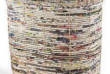 Jornal, Vime, Cestaria, Paper Basket