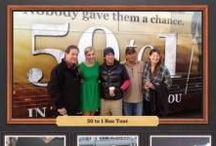 """50 to 1 Bus Tour / """"The cast and filmmakers of 50 to 1 hit the road rock-star style on a five-week cross-country tour that began March 17, 2014 to promote the major motion picture's theatrical release."""""""