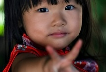 """Childs of the World / """"There are no seven wonders of the world in the eyes of a child.  There are seven million""""  ~Walt Streightiff"""
