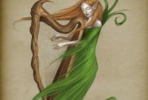 """I ♡ Harp / """"Del salón en el ángulo oscuro, de su dueña tal vez olvidada, silenciosa y cubierta de polvo, veíase el arpa  ¡Cuánta nota dormía en sus cuerdas, como el pájaro duerme en las ramas, esperando la mano de nieve que sepa arrancarlas!  ¡Ay!, pensé; ¡cuántas veces el genio así duerme en el fondo del alma, y una voz como Lázaro espera que le diga """"Levántate y anda""""!  ¬ Poem """"El arpa olvidada"""" (rima VII) G. A. Bécquer"""