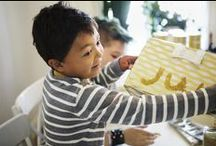Gift wrapping (gold colour) / With plenty of wrapping paper, ribbons, cards and stickers, kids can show off their personality and get creative with their gift-giving. Plus, it's a great way to get the whole family excited about the holiday season. http://ow.ly/EUtyc