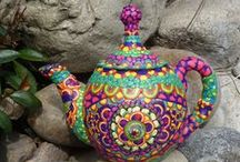 Beautiful teapots and cups