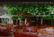 Restaurant website design / This one-page site represents the quality food and the excellent service this restaurant offers in the heart of Budapest. Our focus was on graphical details here and to give back the feeling you'd get at the restaurant. You are welcomed by a gallery of photos of the restaurant and a warm welcome message where you can learn briefly about the restaurant's history in a great story told by the current owners.