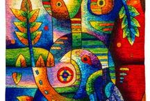 peruvian tapestry art