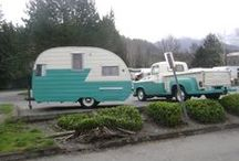Vintage Trailer Love / I grew up camping in a retro trailer... just back then it was brand new.