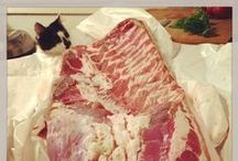 Charcuterie / Charcuterie is so wonderful to make, eat and admire.  Now where's my sausage grinder...