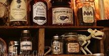 Apothecary - Halloween / Halloween Apothecary Inspiration. DIY Witch potion jars and labels. Our favourite part of our Halloween decor!