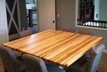 Butcher Block Furniture  / Some of the Gathering Blocks and custom hand crafted butcher block furniture made with pride in Grand Rapids Michigan