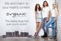 OCS Styling Range / Our unique range of styling products uses the maximum amount of certified organic ingredients and the minimum amount of chemicals to leave styled hair looking naturally healthier with long-lasting hold. Most styling products use plastics to coat the hair, so styled hair ends up dry and damaged with a crispy, crunchy feeling. Organic Colour Systems is different. We treat hair kindly and it shows.