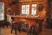 Country Western Basement / Transform your basement and combine elements from country western life and rustic style.