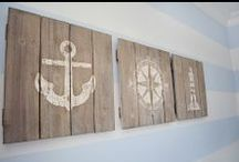 Nautical Living / Add the Edmore Shuffleboard table to your coastal inspired basement filled with sailboats, streamlined prints, and anchors.